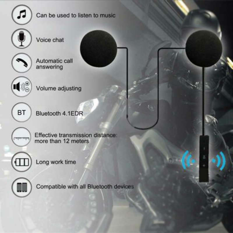Control Helmet Bluetooth Headset HI-FI Earphone Motorbike Replacement Motorcycle Accessory