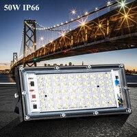 50 w led projector ip66 holofotes jardim ao ar livre iluminação luzes de inundação led refletor luz moldada ac220v 240 v à prova dwaterproof água   -