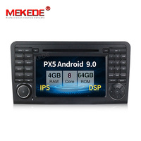 PX5 4GB+64GB Android 9.0 Car multimedia player for Mercedes Benz ML Class W164 ML300 ML350 ML450 ML500 2005 2011 with DSP IPS