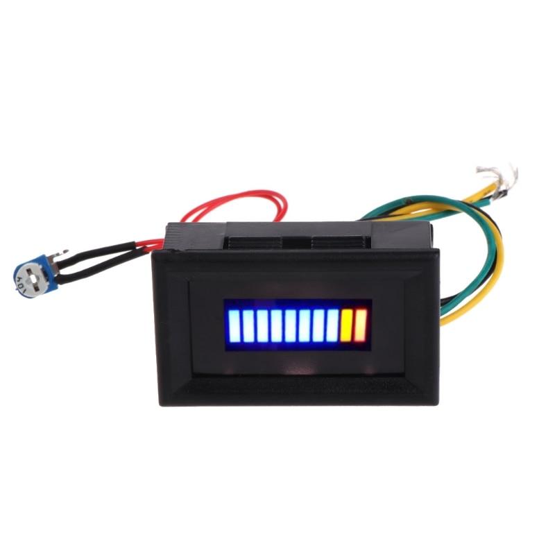 OOTDTY 12V Universal Motorcycle Car Oil Scale Meter LED Oil Fuel Level Gauge Indicator