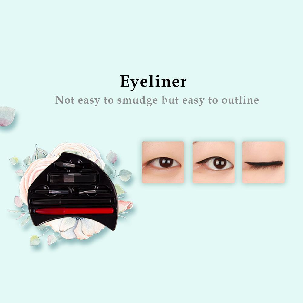 Zestaw do makijażu pudełko do makijażu kształt kwiatu oko makijaż cień do powiek paleta Smoky Glitter cień do powiek obrotowy zestaw kosmetyczka zestaw do makijażu