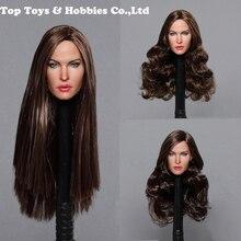GACTOYS GC029 A B C 1/6 Megan Fox Head Sculpt Long Straight Hair F Female 12 Figure body