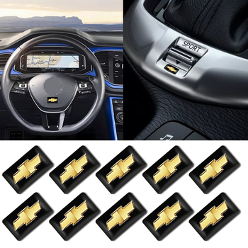 10pcs Car Sticker Steering Wheel Air Panel Decorative Badge For Chevrolets Cruze Captiva Lacetti Aveo Niva Trax Onix Car styling image