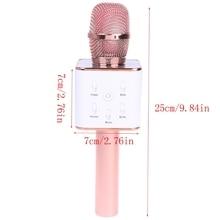 2021 Новый беспроводной микрофон для караоке Bluetooth динамик гусеничный объемный звук голос Q7