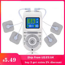 12/15 Modes Tens EMS Pulse Massager Muscle Stimulation Low Frequency Pulse with 4 Electrode Pads Pain Relief Massagem