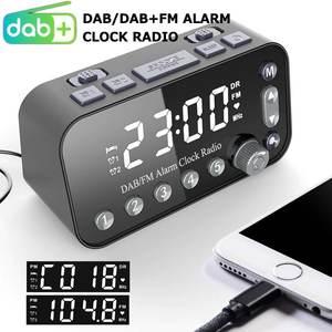 Radio-Receiver Fm-Radio Digital Loudspeaker-Support DAB/DAB Desktop Dual Clock Clock