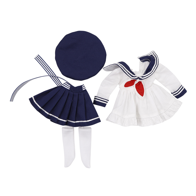 Clothes For 1/6 BJD Doll Little Angel Campus Sailor Suit