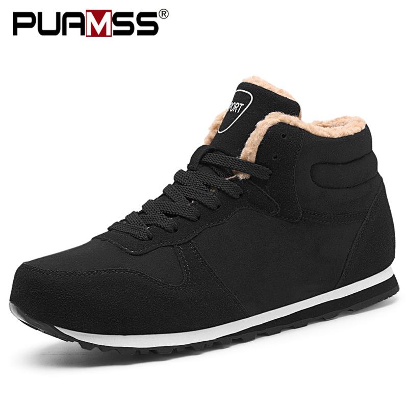 Men Shoes 2020 Men Winter Shoes Keep Warm Ankle Boots Plush Men's Snow Boots Outdoor Sneakers Winter Work Shoes Hombre Botas