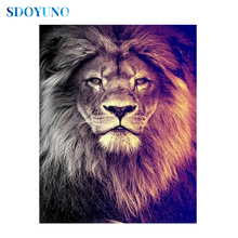 SDOYUNO 5d DIY Full square/round Diamond Painting Mosaic rhinestone pictures Cross Stitch Lions embroidery paintings sdoyuno full square round landscape 5d diy diamond painting rhinestone pictures mosaic cross stitch diamond embroidery