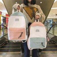 2019 школьные сумки для подростков женский рюкзак женский высококачественный холщовый дорожный рюкзак женский мочила Feminina Sac Dos рюкзак