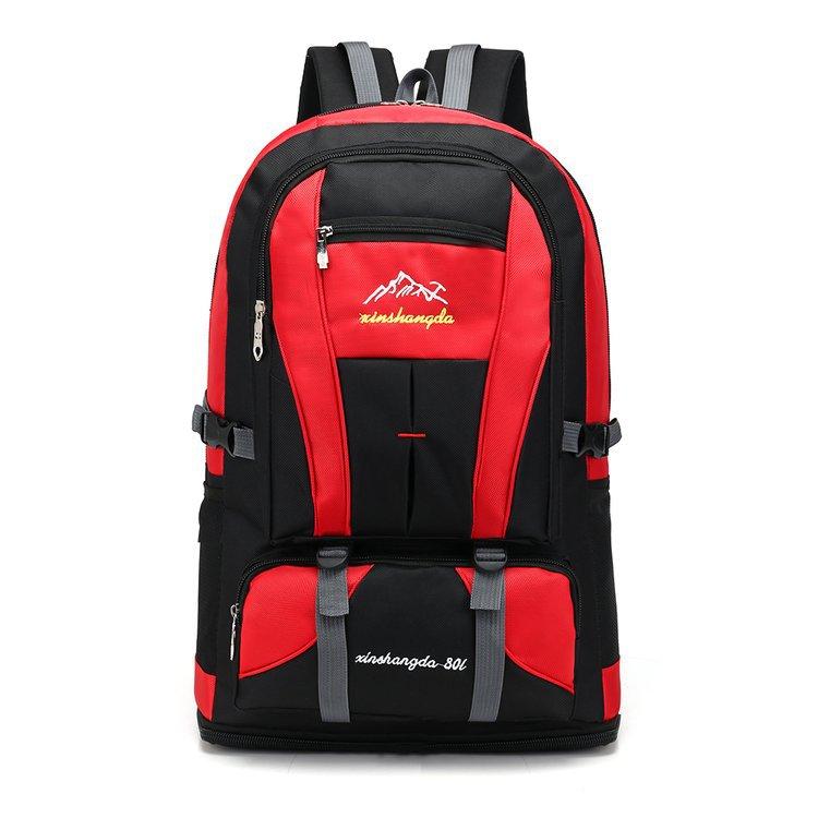 Backpack Men's 80L Backpack Sports Bag Large Capacity Dual Purpose Waterproof Practical Large Mountaineering Bag