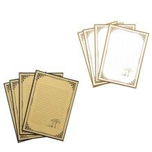 Papel de papelería Vintage 8 paquetes elegante antiguo Retro forrado para escribir poemas letras notas de oficina invitaciones de boda