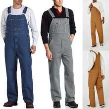 Men's New Fashion Casual Pocket Tooling Overalls Suspender Strap Pants