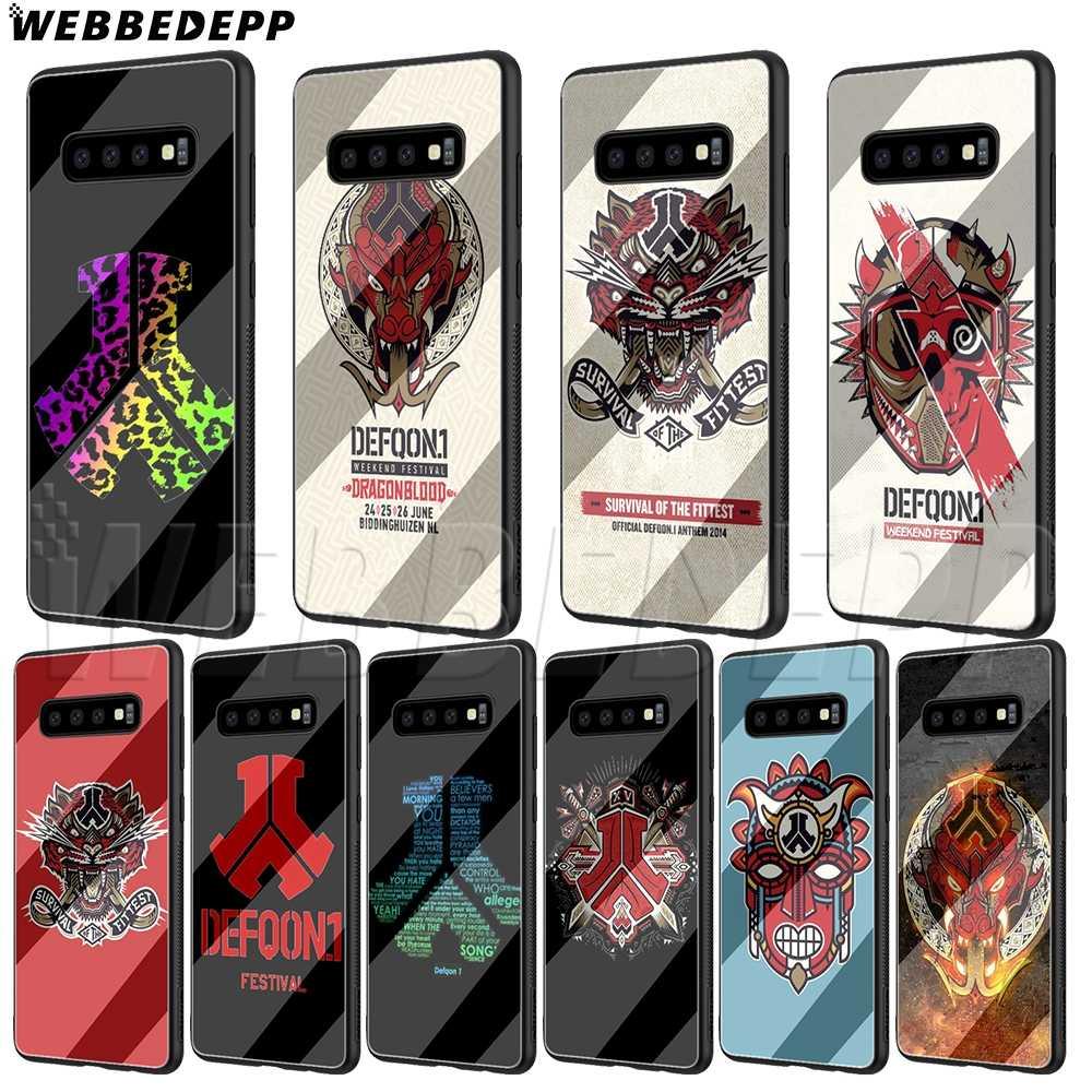 WEBBEDEPP Hardstyle defqon 1 الزجاج حقيبة لهاتف سامسونج S7 S8 S9 S10 ملاحظة 8 9 حافة زائد A10 A20 A30 A50 A60 a70