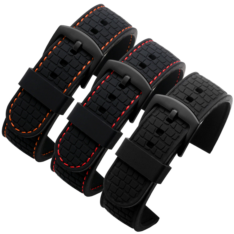 silicone <font><b>watchband</b></font> for Casio Citizen Meitu Timex <font><b>Seiko</b></font> Waterproof rubber Watch strap Rubber Bracelet Men's Accessories <font><b>20mm</b></font> 22mm image