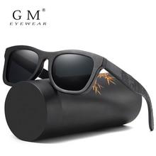 GMแว่นตากันแดดผู้ชายPolarizedขับรถแว่นตากันแดดไม้ไผ่กรอบแว่นตาOculos De SOL Feminino S1610B