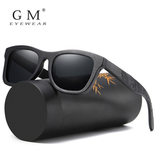 GM Wood Sunglasses Men Brand Designer Polarized Driving Bamboo Sunglasses Wooden Glasses Frames Oculos De Sol Feminino S1610B