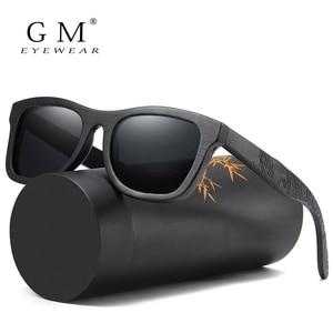 Image 1 - GM עץ משקפי שמש גברים מותג מעצב מקוטב נהיגה במבוק משקפי שמש עץ משקפיים מסגרות Oculos דה סול Feminino S1610B