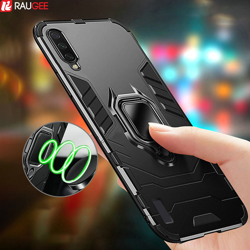 Armor Case For Xiaomi Mi 9 Lite Case Bumper Magnetic Ring TPU+PC Cover On For Xiaomi Mi 9 Pro 5G Mi9 Mi 9 SE Case Protect Cover