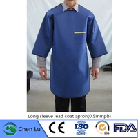 Genuine x ray gamma ray radiation shielding long sleeve coat radiological protection 0.5mmpb lead apron
