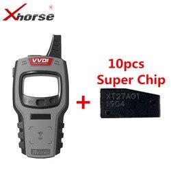 Xhorse VVDI أداة مفتاح صغير عن بعد مفتاح مبرمج دعم IOS و أندرويد النسخة العالمية مع 10 قطعة سوبر رقاقة