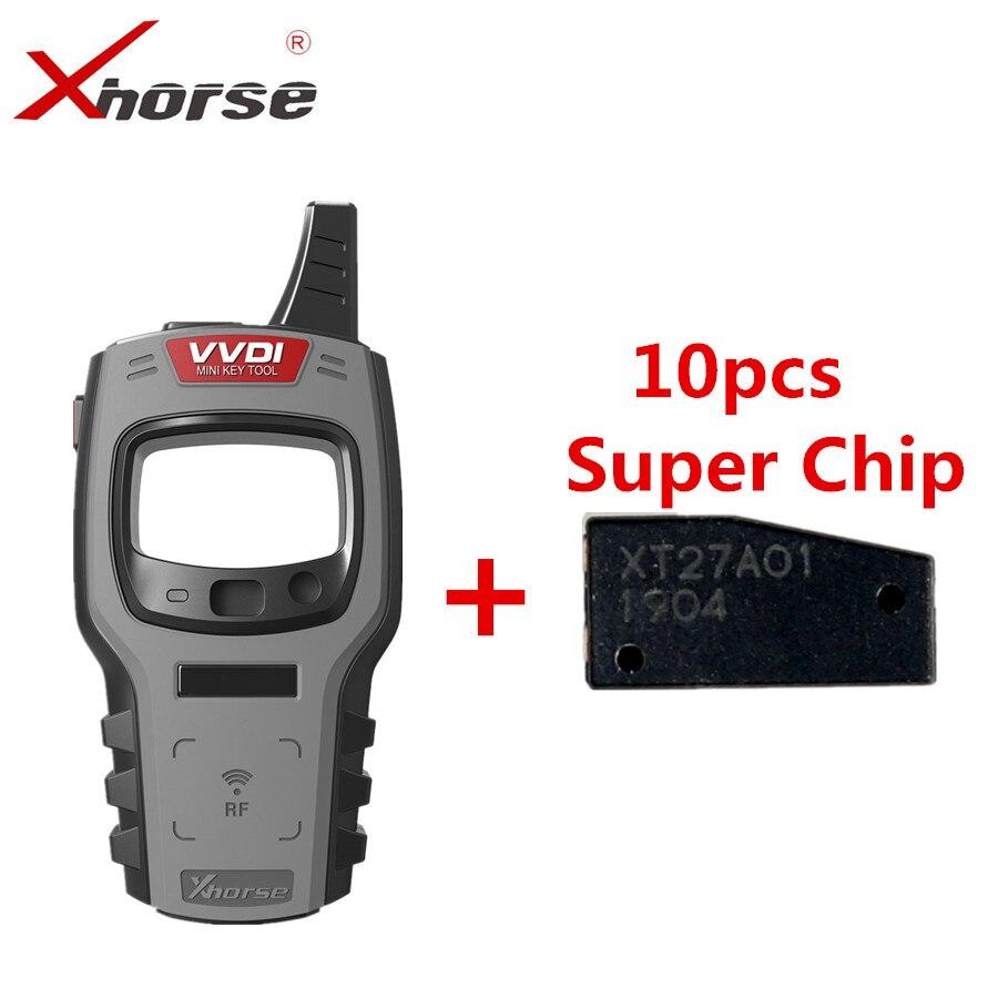 Xhorse vvdi mini ferramenta chave remoto programador suporte ios e android versão global com 10pcs super chip