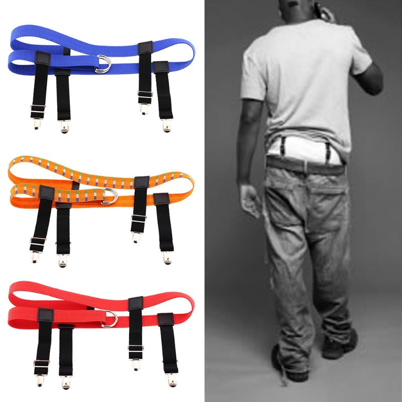 Unisex Waist Susupender Garter Belt With Metal Clips For Stockings Pants Holder