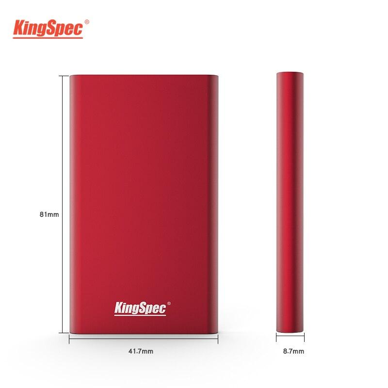 Kingspec ssd 64 Гб 128 ГБ 256 ГБ 512 ГБ 1 ТБ жесткий диск tlc USB3.1 внешний твердотельный накопитель совместим с usb3.0 для ноутбука