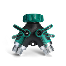 Garden Hose Splitter Connectors Attachments Two-Way Outdoor Adapter Rubber washers Watering garden hose splitter connectors attachments two way outdoor adapter rubber washers watering