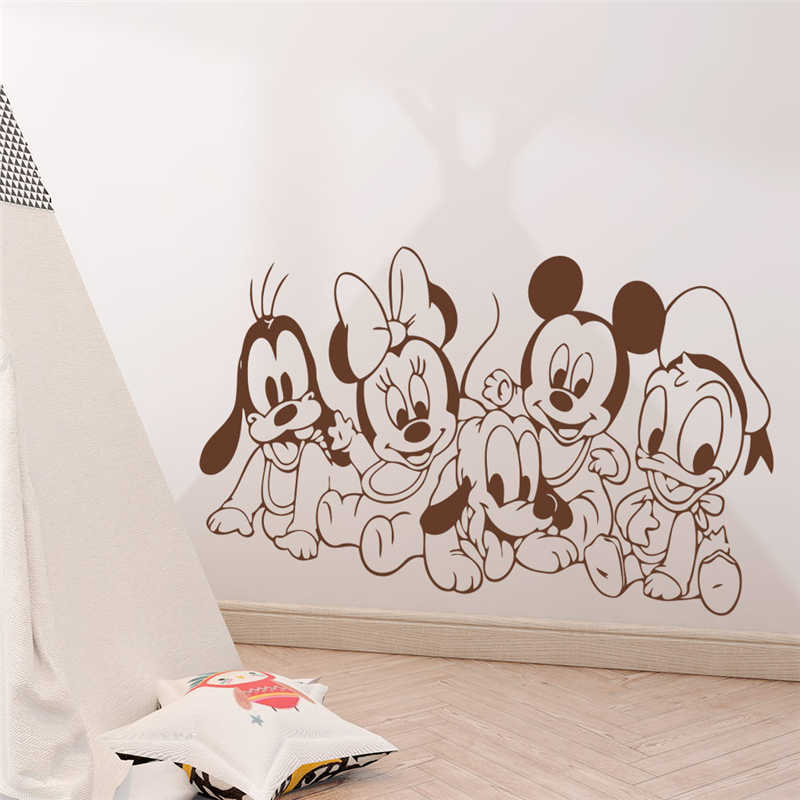 Disney goofy pluto baby wall decal prepasted border cut out 3.5 inch
