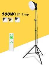 Suporte de vídeo para fotografia, suporte led para iluminação contínua 3000k 5500k 220v 100w cri 90 kits de acessórios de estúdio de fotos