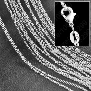10 PCS Multiple Models Top Grade Fashion Jewelry 925 Sterling Silver 16-30 Inches Necklace Chains With Lobster Clasps Wholesale - discount item  32% OFF Fine Jewelry