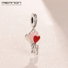 925 Sterling Silver Heart Balloons Pendant Enamel Charms beads fit Original charm bead bracelets bangles necklace DIY for women(China)