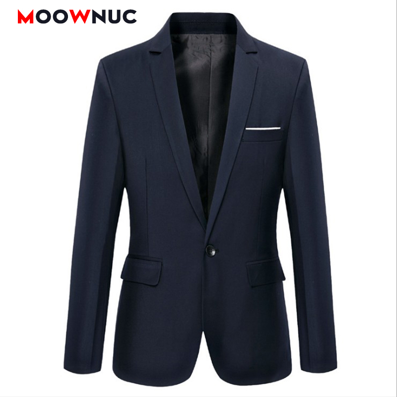 Men's Jacket Masculino Blazers Men's Suit Jackets Hombre Solid Slim Fit Groom's Clothes Smart Casual Mens Clothes MOOWNUC