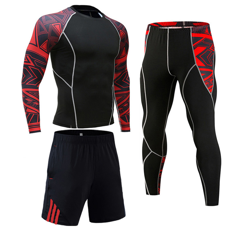 Clothing Man Suit T-shirt Leggings Training Kit Full Suit Tracksuit Compression Sportswear Base Layer Thermo Underwear Xxxxl