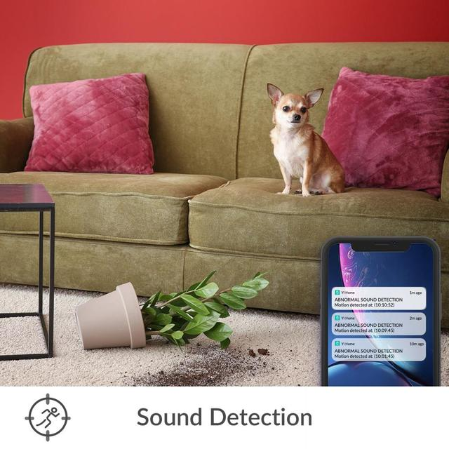 YI Home 1080p Camera AI+ Smart Human detection Night vision Activity alerts for home Video pets baby monitor Cloud and Micro SD 4