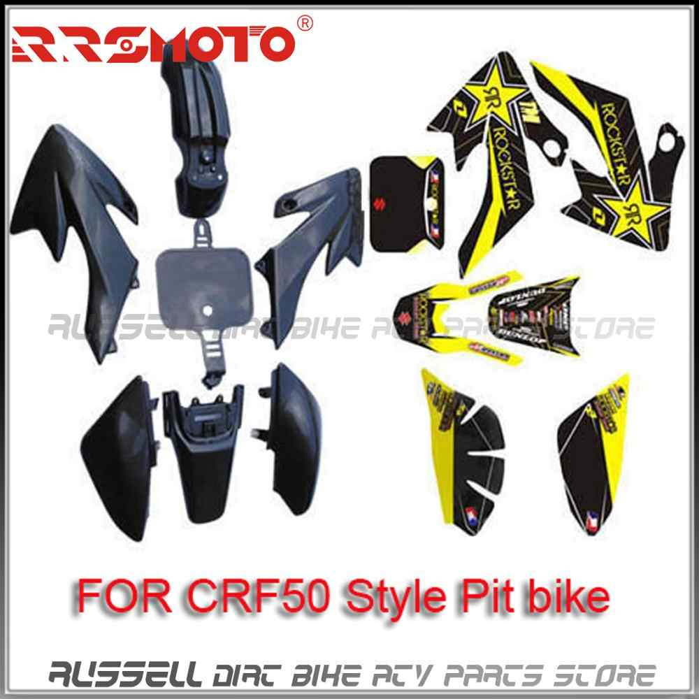 WPHMOTO Sticker Decal Graphics Fairing Kit for CRF50 CRF 50 Pit PRO Dirt Bike Thumpstar SSR