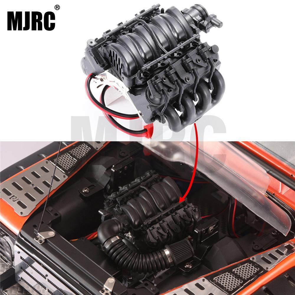 Simulation LS3 V8 6.2L Engine Motor With Coolerfor 1/10 TRX4 Defender Blazer RC4WD D90/D110/D130 RC Car Parts Accessories
