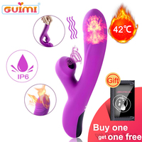 GUIMI Clitoris Sucking Dildo Vibrator Sex Toys For Woman Erotic G spot Vagina Masturbator Heating Vibrador Sex Machine Sex Shop