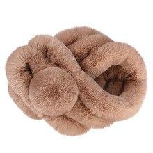 Женский зимний теплый шарф из искусственного меха, сохраняющий тепло, модный утолщенный мех, имитация меха, шарфы, женский зимний шарф# pingyou