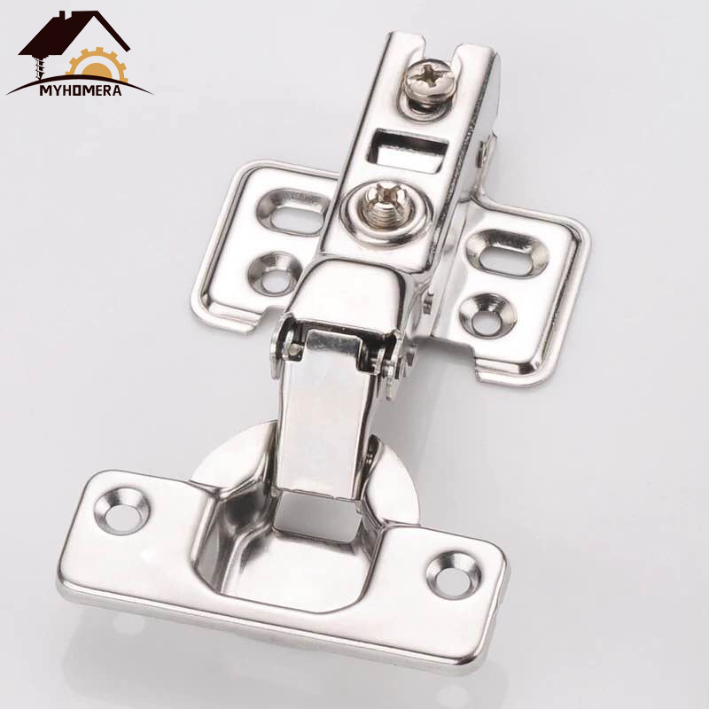 Myhomera Hinge Stainless Steel Hydraulic Cabinet Door Hinges Damper Buffer Soft Close Kitchen Cupboard Furniture Full/Half/Embed
