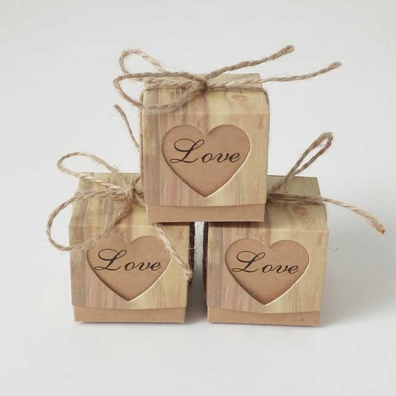 10 teile/los Papier Liebe Herz Candy Boxen Kraft Geschenk Box Baby Dusche Liefert Goodie Bags Verpackung Hochzeit Geburtstag Party Favors