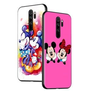 Image 2 - Disney Họa Tiết Hoạt Hình Đáng Yêu Hình Chuột Mickey Cho Xiaomi Redmi 9A 9C 9 Thủ Đi 8A 8 7A 7 S2 6A 6 5 Pro Plus Đen Ốp Lưng Điện Thoại