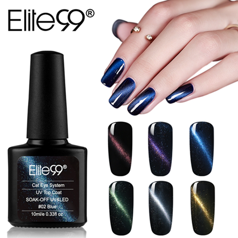 Elite99 10ml Cat Eye Top Mantel Gel Magnet 3D Katze Augen Finish UV Gel Lack Semi Permanent Nagel Kunst gel Nagellack Topcoat