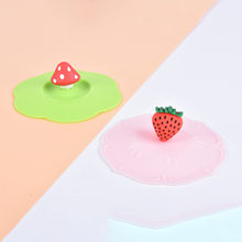 Cup-Cover Strawberry-Mushroom Silicone Leakproof-Lids Heat-Resistant Anti-Dust Seal Kitchen-Tools