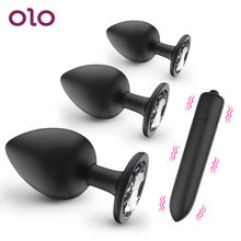Olo sexo brinquedos para mulheres masculino próstata massageador anal plug produtos adultos bala vibrador butt plug