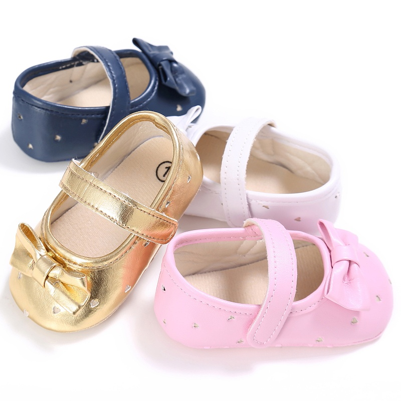 Summer PU Newborn Baby Girl Shoes First Walkers Non-Slip Soft Sole Infant Child Princess Toddler Shoes
