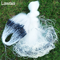 Lawaia White Fishing Gill Net Monofilament Fishing Gear Accessories Fishing Trap Network Three Layer Fish Net with Plastic Float