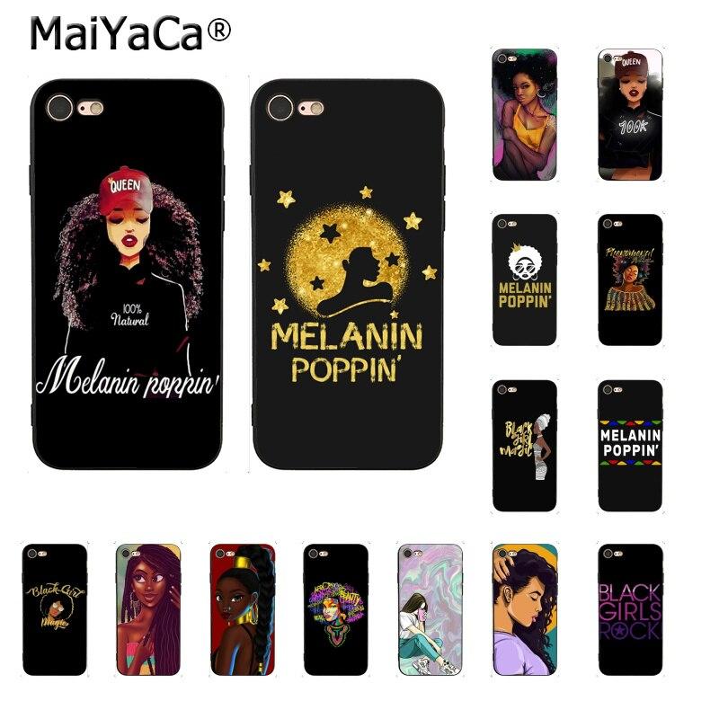Maiyaca Afro Black Girl Magic Queen Melanin Poppin Phone