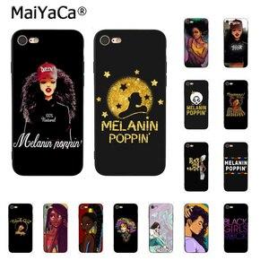 MaiYaCa афро черная девочка Волшебная королева меланин поппин телефон аксессуары чехол для iPhone 11 Pro XS MAX XS XR 8 7 6 Plus 5 5S SE